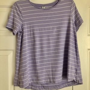 Old Navy Women's Small Lavender Small Stripe Shirt